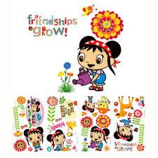 33 Wall Stickers NI HAO KAI LAN Decal Room Decor FRIENDSHIPS GROW Garden, Floral