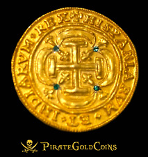 ROYAL EMERALDS MEXICO 1715 FLEET 8 ESCUDOS GOLD PLT DOUBLOON TREASURE COIN