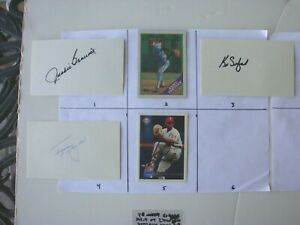You Pick 3 Signed Philadelphia Philles Index &  Baseball Cards Autographed