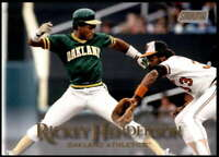 Rickey Henderson 2019 Topps Stadium Club 5x7 Gold #132 /10 Athletics
