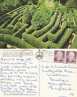 1970's GOVERNORS PALACE MAZE WILLIAMSBURG VIRGINIA UNITED STATES COLOUR POSTCARD
