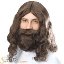 Jesús Marrón Peluca y barba años 60 AÑOS 70 Hippy PROFETA DISFRACES RELIGIOSOS
