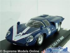 LOLA T70 MKIII MODEL CAR 1:43 SCALE BLUE IXO 1967 RACING SPORTS + DISPLAY CASE K
