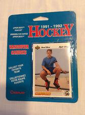 1991-1992 Upper Deck Vancouver Canucks Team Set Blisterpack