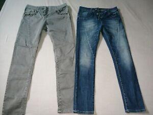 Please Jeans S Jeanshose Blau Grau