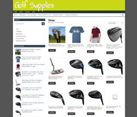 GOLFING STORE WEBSITE WITH ONE YEARS HOSTING & NEW DOMAIN