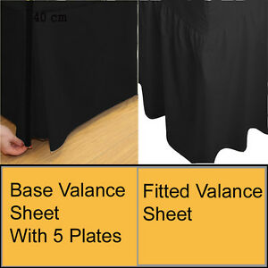 Plain Dyed Fitted Valance, Base plated Valance sheet Poly-Cotton Bed Sheet 4size