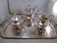 Vintage Wilcox S.P.Co. International Silver  Tea POT CREAM SUGAR TRAY ( 7015)