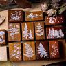 Vintage Forest Plants Stamp Wooden Rubber Stamps Scrapbooking Stationery Craft