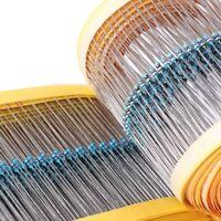 2425pcs 97 Value 1% 1/8W 0.125W 1 ohm-1M ohm Metal Film Resistors Assorted Kit