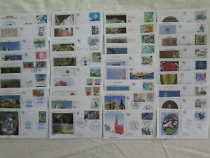 LOT DE 35 ENVELOPPES  1er JOUR- FDC : ANNEE 2007