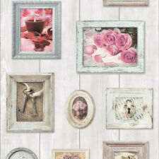 PICTURE FRAME ROSES HOME SWEET HOME QUALITY FEATURE HEAVYWEIGHT WALLPAPER 102566