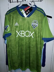 Seattle Sounders FC XBOX soccer Adidas ClimaLite Jersey uniform shirt MLS - L
