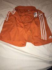 Men's Adidas Soccer Running Shorts Size Large  Athletic Fitness Gym Orange