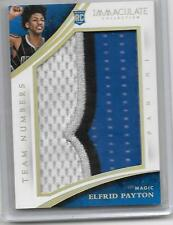 2014-15 Panini Immaculate Collection Rookie Team Number Relic ELRID PAYTON 09/32