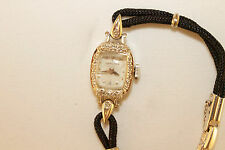 Hamilton 750 USA 17 Jewel Ladies' 14K White Gold Diamond Watch Antique Estate