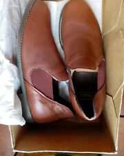 Vintage NOS Sears  Romeo Slippers Essex Magic Feather Mens 8 1/2 E Brown USA