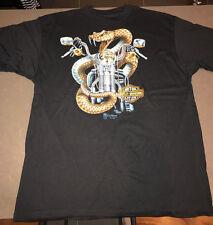 Vintage Harley Davidson Rattlesnake T-Shirt, 3-D Emblem, Mint Deadstock, Size XL
