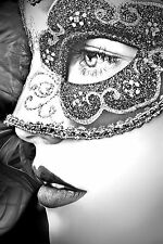 STUNNING MASQUERADE BALL PARTY MASK CANVAS PICTURE #34 WALL HANGING ART PICTURE