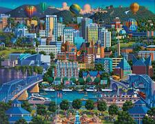 DOWDLE FOLK ART COLLECTORS JIGSAW PUZZLE CHATTANOOGA 500 PCS #00317