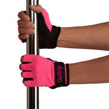 GOGRIP HOT PINK SMALL TACK GLOVES FOR POLE DANCING X and a MIGHTY GRIP