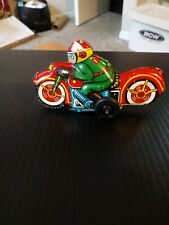 Vintage Pull Back Tin Toy Motorcycle