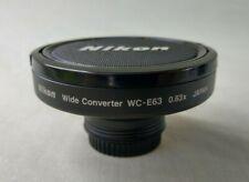Nikon WC-E63 Wideangle Converter0.63X Lens Excellent Condition Caps & Pouch