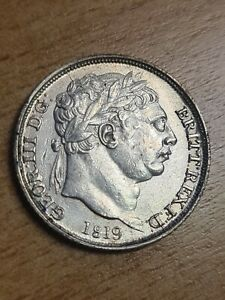 1819 SIXPENCE George III Second bust Small 8 High Grade