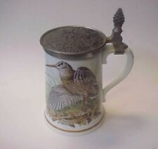 Franklin Mint Haviland Game Bird Stein - The Woodcock Bird - Pewter Limoges Le