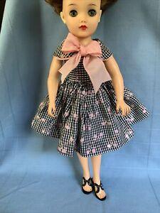 "Vintage 50's Doll Dress For 18"" Fashion Doll Fits Revlon & Black Heels"