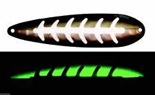 "MOONSHINE LURES GLOW IN THE DARK HALF MOON MAGNUM 4.25"" TROLLING SPOON GEEZER"