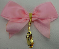 PINK READY MADE BOW>6.5cm 50 PCS>WOW<CRAFT/FLORIST>FREEpp>BRILLIANT VALUE4MONEY