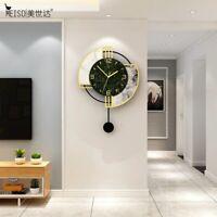 Wall Clock Modern Design Europe Pendulum Circular Quartz Acrylic Silent Clock