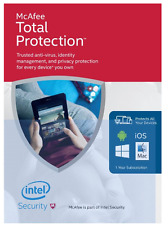McAfee Total Protection with Latest Updates for Unlimited Devices- Award Winning