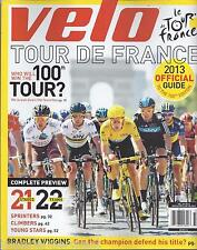 Velo magazine Tour de France Official guide Sprinters Climbers Young stars Gear