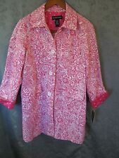 NWT Norton McNaughton Spring Coat Size Small Pink & White Floral NEW