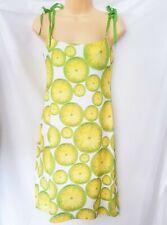 Laundry A Line Dress Size 6/Lemon Prints/ Tie up Bow sleeve/Summer /Bow Neck
