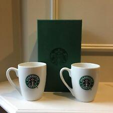 New Set of 2 Starbucks Coffee 2007 Mermaid Logo on Both Sides Mug 10.2 oz - Nib