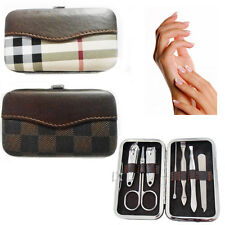 Nail Care Kit Manicure Pedicure Set Clippers Cuticle Grooming Gift Travel Case