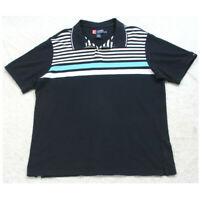 XL Ralph Lauren Blue & White Polo Shirt Top Short Sleeve Mans Cotton Men's P31