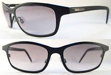 Rare MOMO DESIGN Lightweight Gents/Herren Sunglasses Titanium, Black/Grey