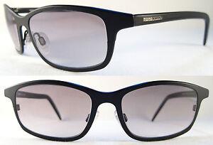 Rare MOMO DESIGN Lightweight Gents/Herren Sunglasses 100% Titanium, Black/Grey
