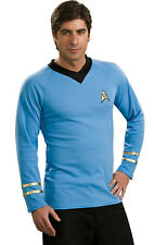 Star Trek Classic Blue Shirt Deluxe Adult Mens Costume Fancy Dress Up
