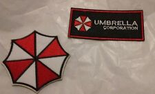 Resident Evil Umbrella Logo & Corporation Logo Iron On Embroidered Patch 2pc set