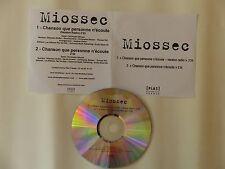 CDr single Promo MIOSSEC Chanson que personne n écoute