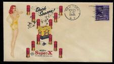 Vintage Super-X Shotgun Shells Ad Featured on Collector's Envelope *OP380