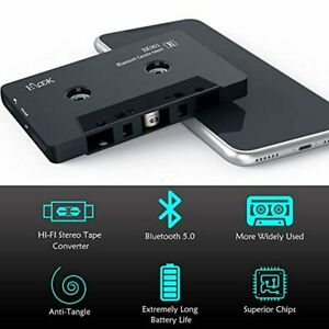 Car Audio Receiver, Bluetooth Cassette Receiver Tape Aux Adapter Player with 5.0