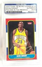 Kevin Durant Autographed PSA/DNA in the presence Rookie Card Sports Package