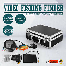 "60m 7"" LCD Fish Finder Screen Underwater Fishing Video Camera NTSC Safe PAL"