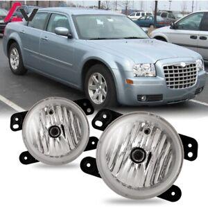 For Chrysler 300 05-10 Clear Lens Pair Bumper Fog Light Lamp Replacement